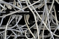 De Aanslutingen van het netwerk Stock Foto's