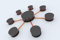 De aanslutingen van het netwerk Royalty-vrije Stock Afbeeldingen