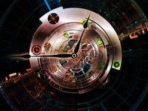 De Aanslutingen van het uurwerk royalty-vrije illustratie
