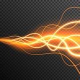 De aanstekende Elektrische transparante vector van de de gloedfonkeling van het donderonweer stock foto