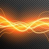 De aanstekende Elektrische transparante vector van de de gloedfonkeling van het donderonweer royalty-vrije stock foto's