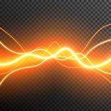 De aanstekende Elektrische transparante vector van de de gloedfonkeling van het donderonweer royalty-vrije stock foto