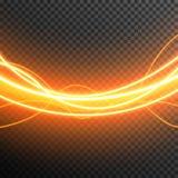 De aanstekende Elektrische transparante vector van de de gloedfonkeling van het donderonweer royalty-vrije stock afbeelding