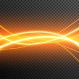 De aanstekende Elektrische transparante vector van de de gloedfonkeling van het donderonweer stock fotografie