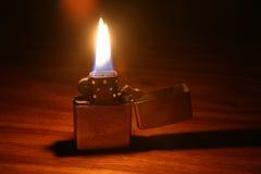 De aansteker van lit stock afbeelding