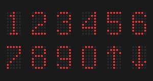 De aantallen lampen op een zwarte achtergrond Stock Foto's