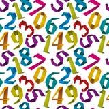 De aantallen naadloze achtergrond van de origamistijl Stock Fotografie