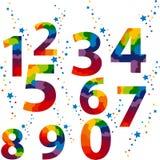 De aantallen plaatsen gekleurd Stock Foto