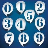 De aantallen van de bellentoespraak Stock Foto's