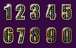 De aantallen van de diamant Royalty-vrije Stock Afbeeldingen