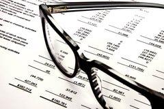 De Aantallen van de Effectenbeurs Stock Foto