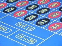 De aantallen van de roulette Stock Foto's