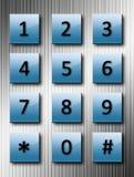 De aantallen van de telefoon stock illustratie