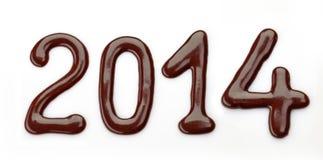 De aantallen van de zoete chocoladesaus Stock Afbeelding