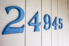 De Aantallen van het huisadres Stock Afbeeldingen