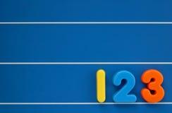 De aantallen van het kind Stock Foto