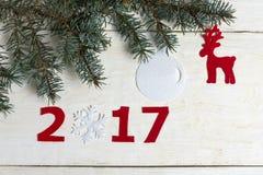 De aantallen van het nieuwe jaar Stock Fotografie
