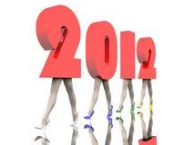 De aantallen van het nieuwjaar Stock Afbeelding