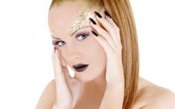 De aantrekkelijke vrouw van de glamourmake-up Stock Foto