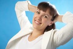 De aantrekkelijke vrouw van het portret Stock Foto