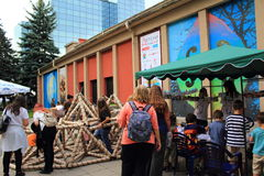 De aantrekkelijkheden Sofia Bulgaria van de kinderen` s Dag Stock Fotografie