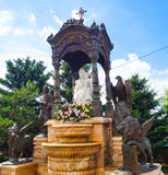 De aantrekkelijkheid van Irkoetsk, op het grondgebied van de tempel van Kazan moeder van God Stock Foto