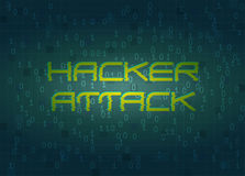 De aanval van de hakker Technologie achtergrondconcept Stock Afbeelding
