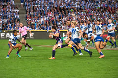 De aanval van het rugby Stock Afbeelding
