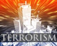 De aanval van het terrorisme Stock Foto's