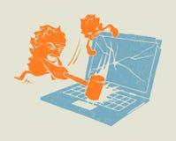 De aanval van het virus royalty-vrije illustratie