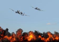 De aanval van Jetfighter stock fotografie