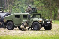 De aanval van militairen Royalty-vrije Stock Afbeelding