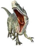 De aanval van Monolophosaurus Stock Afbeeldingen