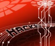 De Aanvallen 3d Illustratie van Cyber van de Cybersecurityhakker Online stock illustratie