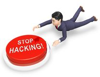 De Aanvallen 3d Illustratie van Cyber van de Cybersecurityhakker Online royalty-vrije illustratie
