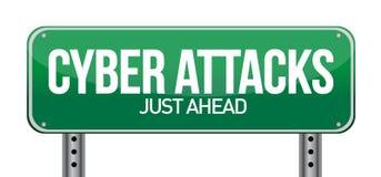 De aanvallen van Cyber als technologieconcept Stock Foto's