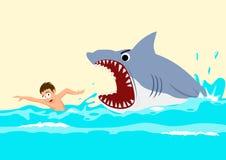 De Aanvallen van de haai Stock Foto