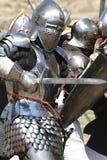 De aanvallen van de ridder Royalty-vrije Stock Foto