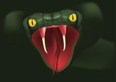 De aanvallen van de slang vector illustratie
