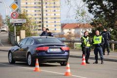De aanvallen van Frankrijk Parijs - grenstoezicht met Duitsland royalty-vrije stock fotografie