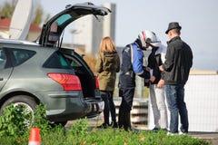 De aanvallen van Frankrijk Parijs - grenstoezicht met Duitsland royalty-vrije stock afbeelding