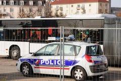 De aanvallen van Frankrijk Parijs - grenstoezicht met Duitsland royalty-vrije stock afbeeldingen