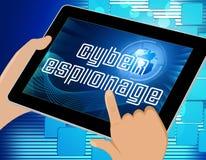 De Aanvals 3d Illustratie van Cyber van de Cyberspionage Misdadige Royalty-vrije Stock Fotografie