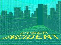 De Aanvals Waakzame 3d Illustratie van Cyber Inherente Gegevens Royalty-vrije Stock Fotografie