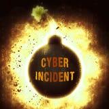 De Aanvals Waakzame 3d Illustratie van Cyber Inherente Gegevens Stock Afbeelding