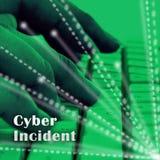 De Aanvals Waakzame 3d Illustratie van Cyber Inherente Gegevens royalty-vrije illustratie