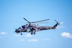 De aanvalshelikopter van mil mi-24 Stock Afbeeldingen