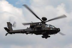 De Aanvalshelikopter ZJ 172 van AgustaWestland wah-64D Apache AH1 van de Britse Korpsen van de Legerlucht royalty-vrije stock foto's