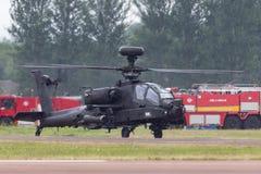 De Aanvalshelikopter ZJ 172 van AgustaWestland wah-64D Apache AH1 van de Britse Korpsen van de Legerlucht stock afbeeldingen