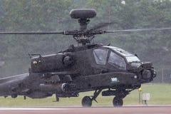 De Aanvalshelikopter ZJ 172 van AgustaWestland wah-64D Apache AH1 van de Britse Korpsen van de Legerlucht royalty-vrije stock fotografie